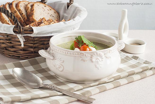 Zupa krem zcukinii irukoli