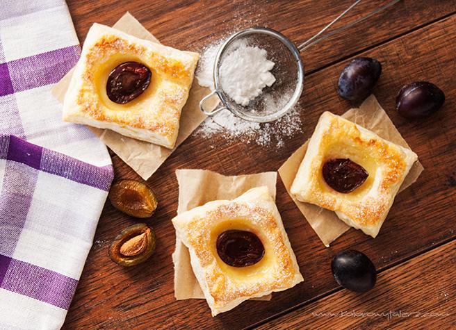 ciastka francuskie ześliwką