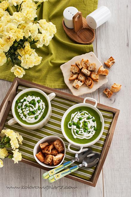 zupa krem zzielonego groszku