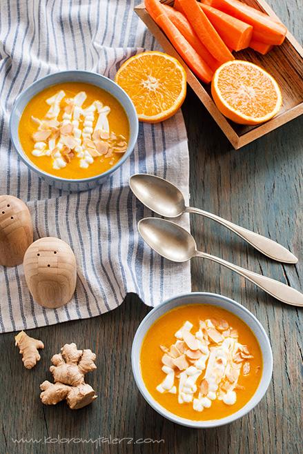marchewkowa zupa krem zpomarańczą