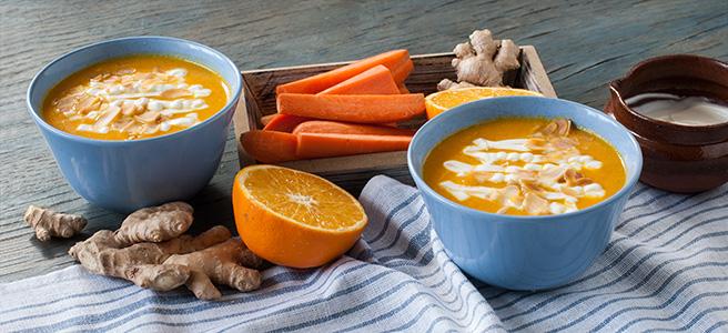 marchewkowa zupa krem z pomarańczą